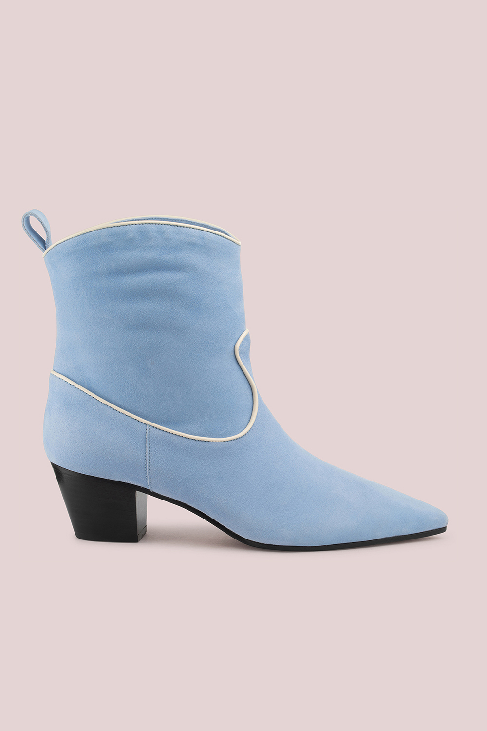 WEST BOOT IN SUEDE AZZURRO