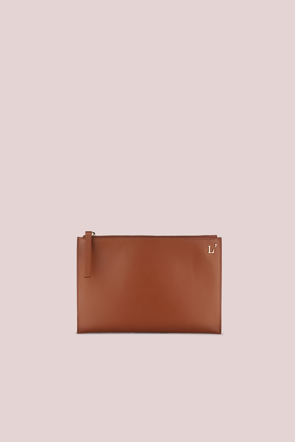 POUCH IN TAN LEATHER