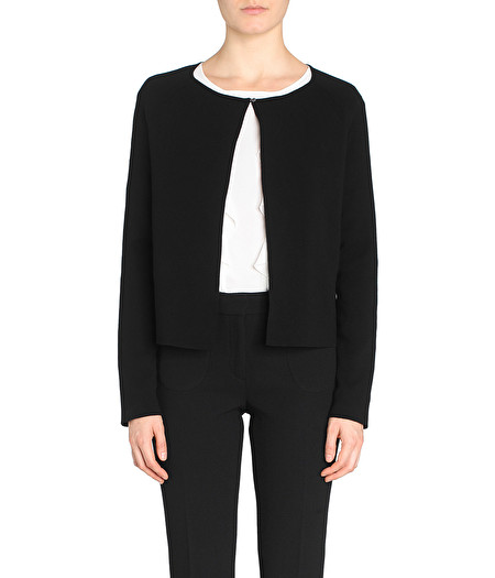 BLACK CARDIGAN WITH BUTTON DETAIL