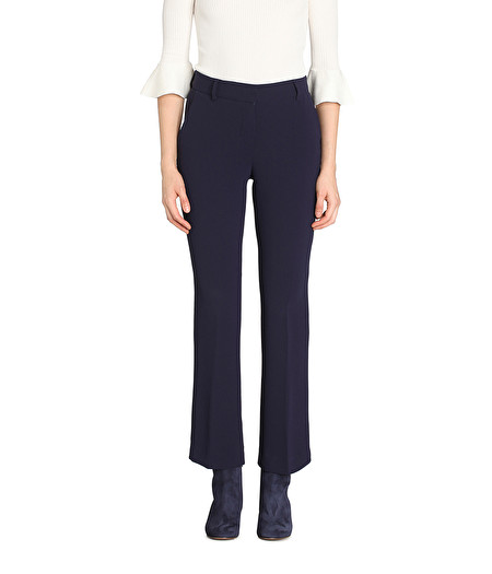NAVY BOOT-CUT TROUSERS