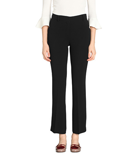 BLACK BOOT-CUT TROUSERS
