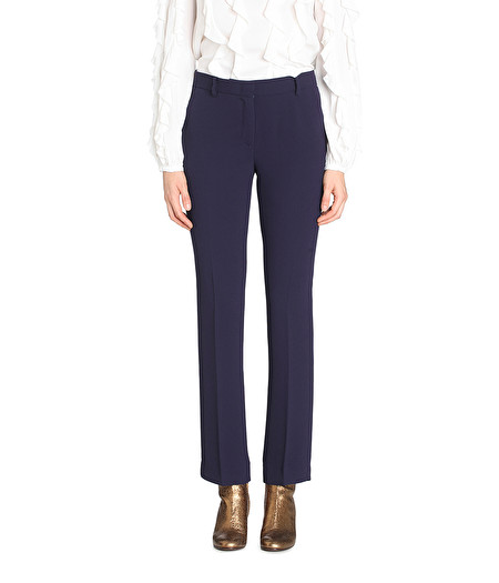 NAVY STRAIGHT-LEG TROUSERS