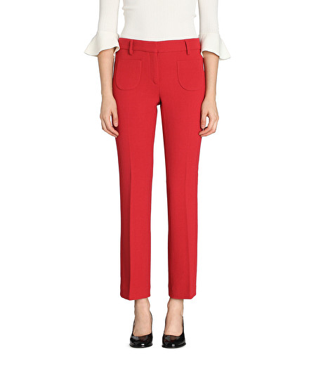 STRAWBERRY BOOT-CUT TROUSERS WITH PATCH POCKETS