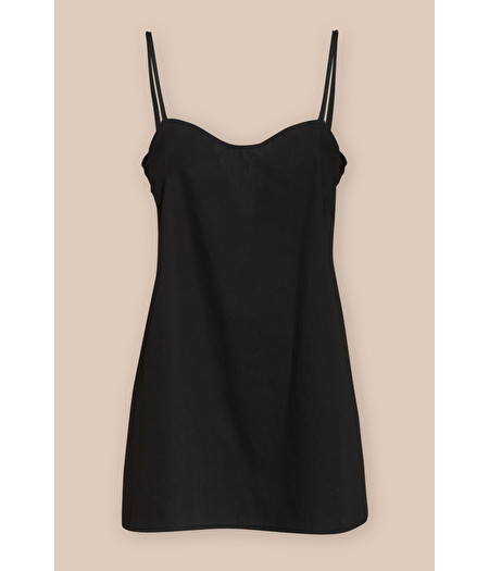 BLACK COTTON SLIP