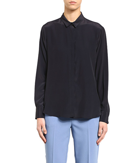 MASCULINE-LOOKING SHIRT IN NAVY BLUE
