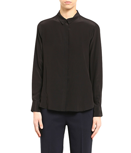 MASCULINE-LOOKING SHIRT IN BLACK