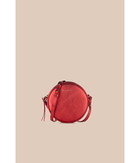RED-LAMÉ HANDBAG
