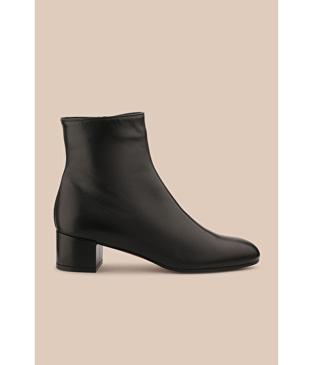 BOTTINES EN CUIR NAPPA NOIR