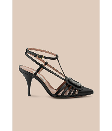 SLINGBACK PUMP IN BLACK NAPPA