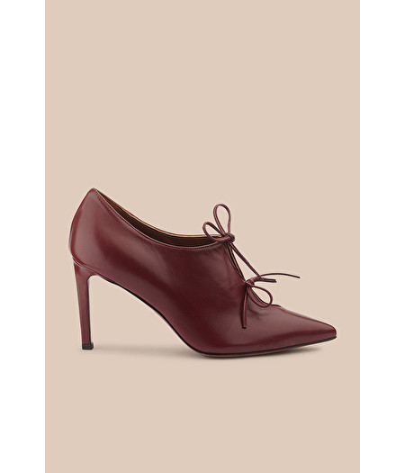 BURGUNDY LUX NAPPA COURT SHOE