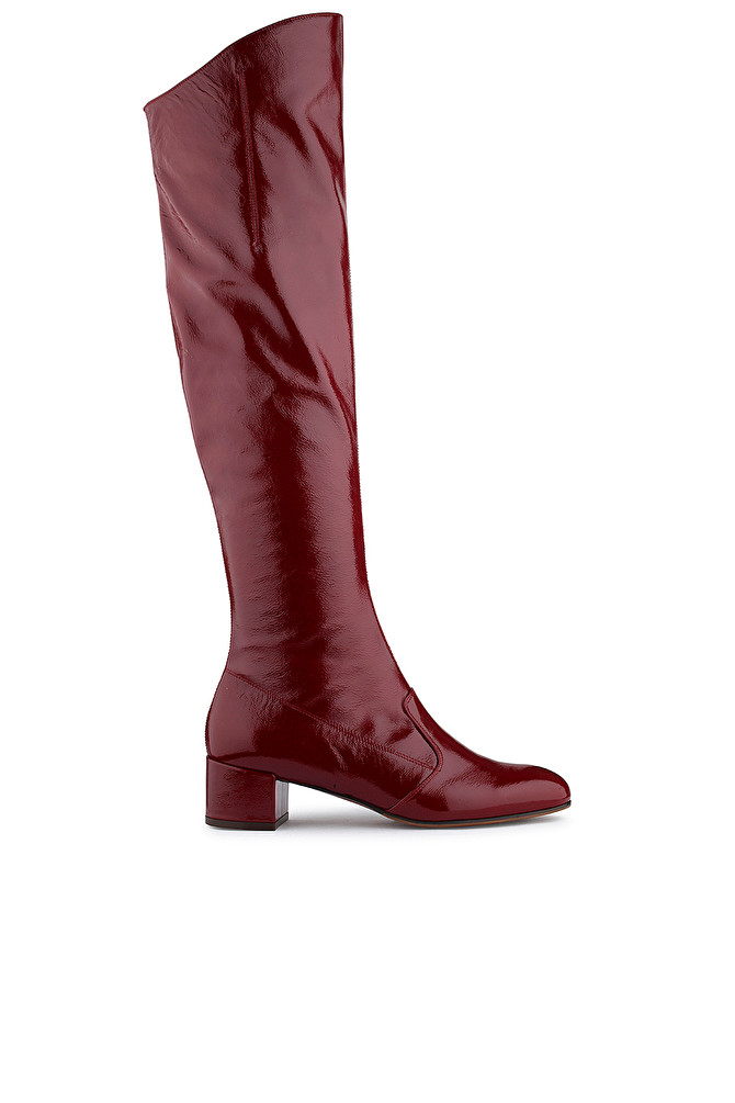 STIVALE OVER-KNEE IN VERNICE BORDEAUX - L AUTRE CHOSE S.P.A 3c973a000a4