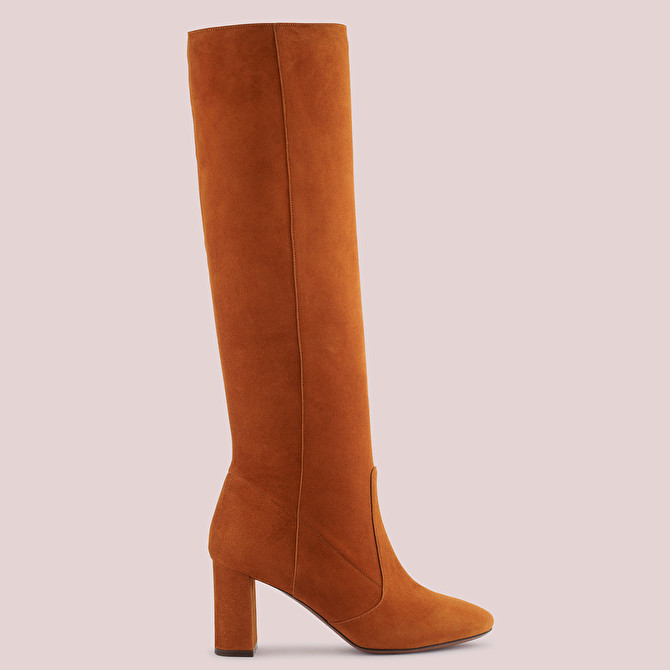 PULL-ON BOOT IN TAN-COLOURED SUEDE   L