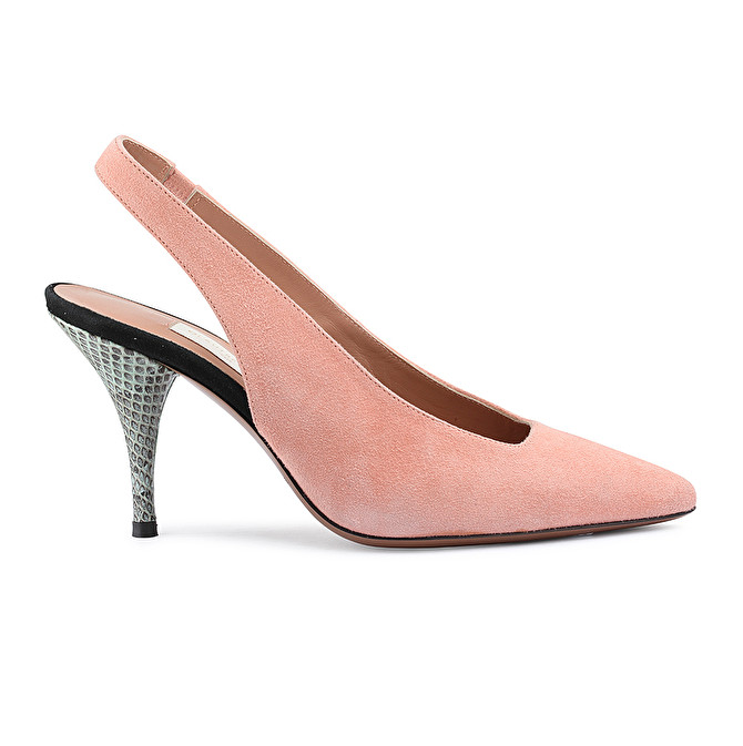 0d6c5b2837cb SLINGBACK IN PINK SUEDE AND AYERS - L'AUTRE CHOSE S.P.A