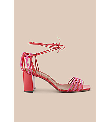 5ac8410171262 L'AUTRE CHOSE S.P.A - STRAPPY SANDAL IN RED NAPPA AND MAGENTA SUEDE